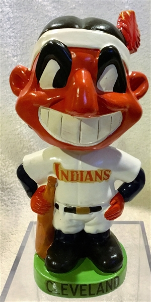 60's CLEVELAND INDIANS GREEN BASE BOBBING HEAD