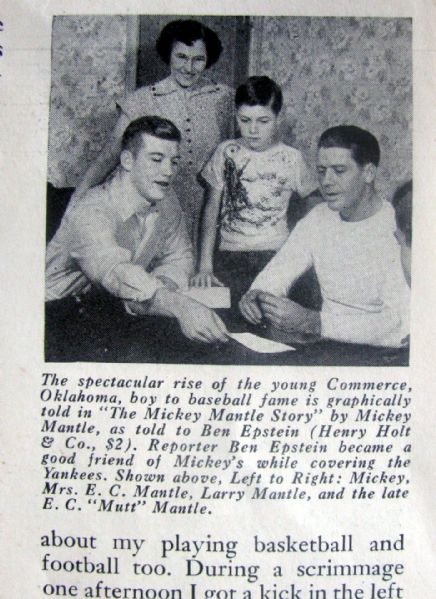SEPTEMBER 1953 GUIDEPOSTS w/MICKEY MANTLE