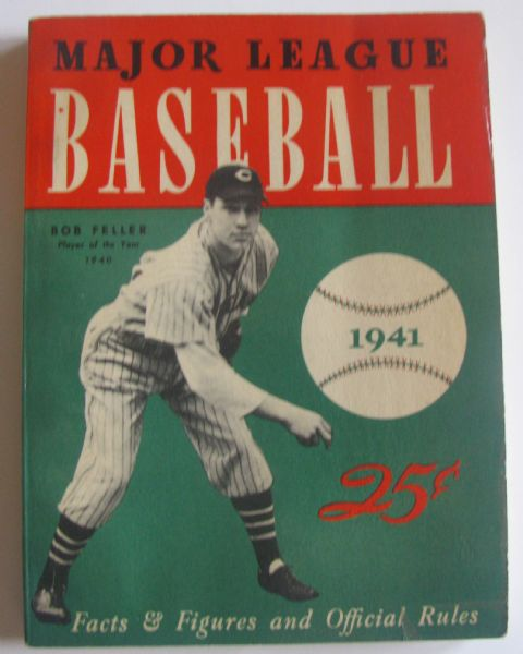 1941 MAJOR LEAGUE BASEBALL BOOKLET - FELLER COVER