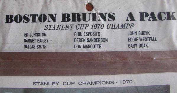 1970 BOSTON BRUINS STANLEY CUP CHAMPIONS PHOTO PACK - SEALED!