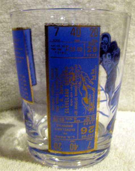 60's LOS ANGELES RAMS CHAMPIONS GLASS