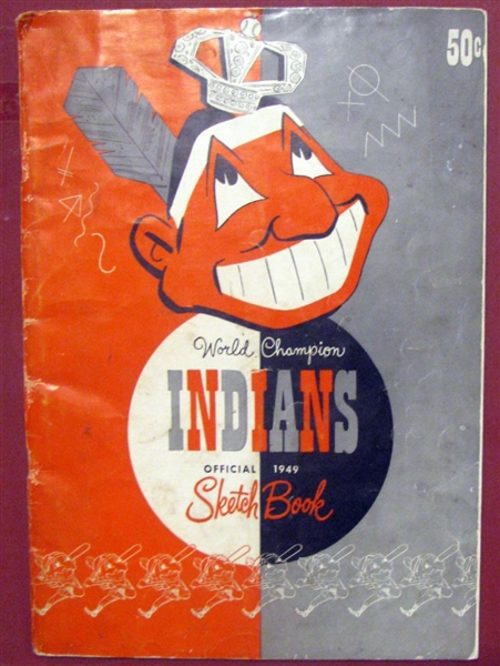 1949 CLEVELAND INDIANS SKETCH BOOK/YEARBOOK