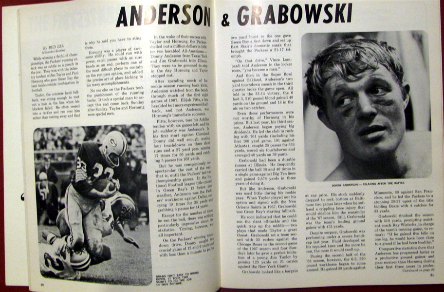 1969 GREEN BAY PACKERS YEARBOOK