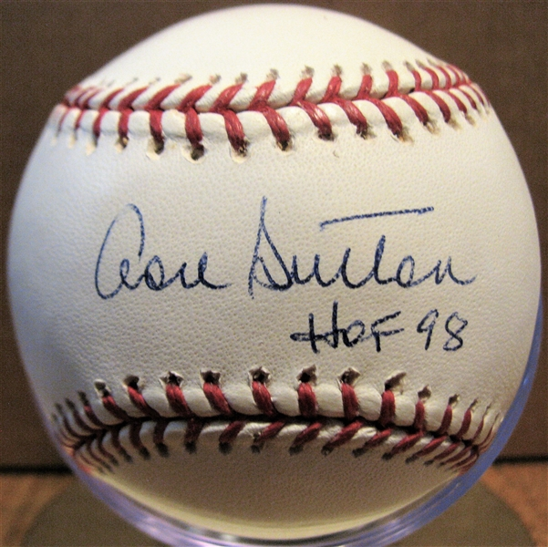 DON SUTTON HOF 98 SIGNED BASEBALL w/CAS COA