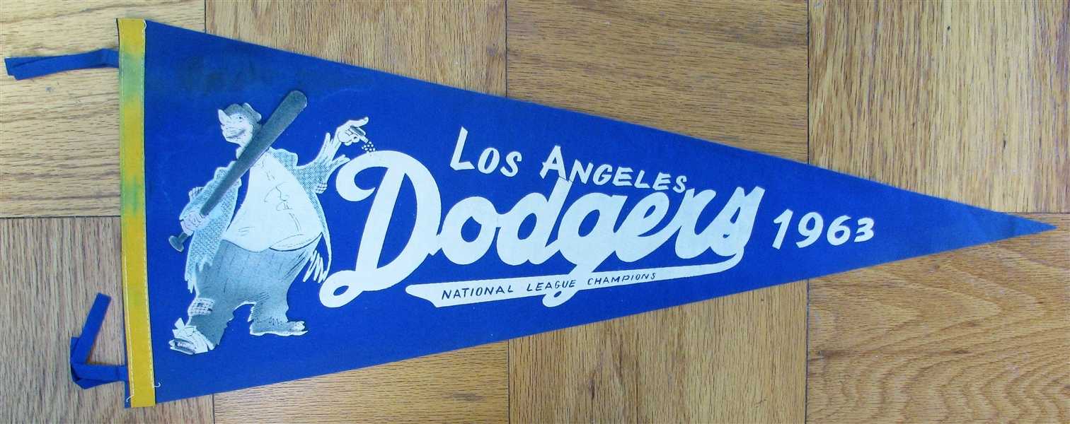 1963 LOS ANGELES DODGERS WORLD SERIES PENNANT