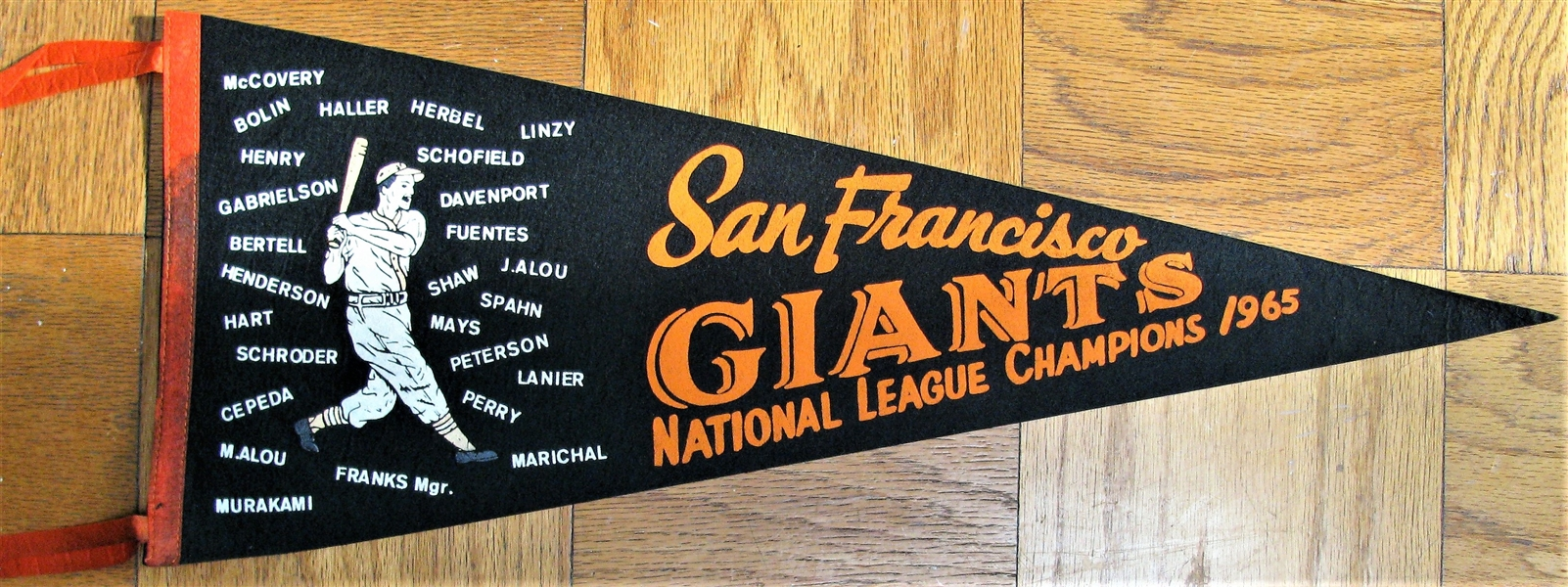 1965 SAN FRANCISCO GIANTS NL CHAMPIONS PHANTOM PENNANT