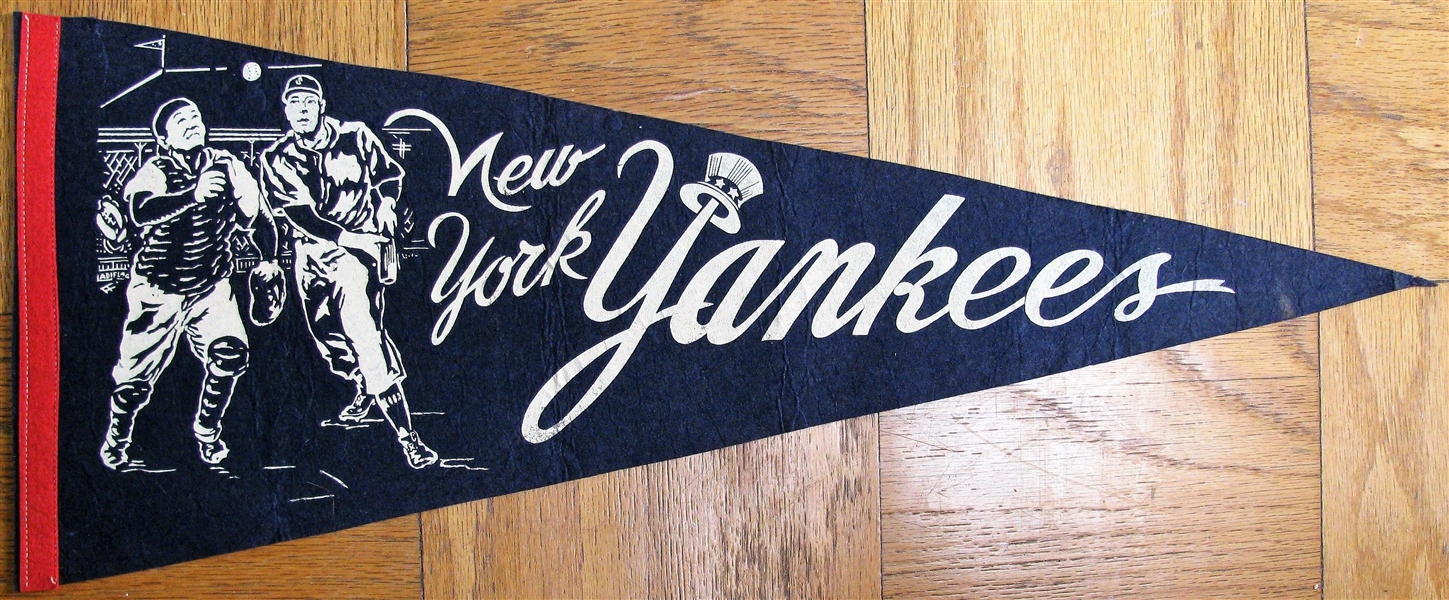 60's NEW YORK YANKEES BASEBALL PENNANT