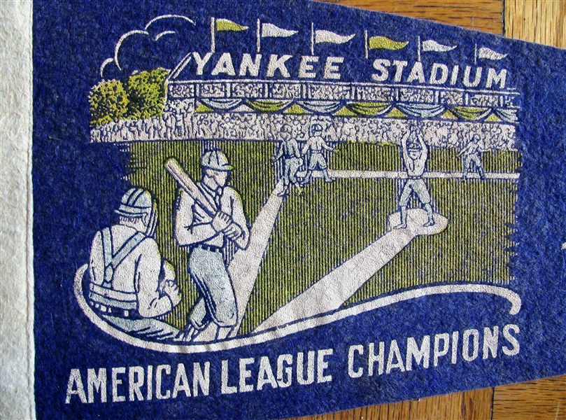 30's NEW YORK YANKEES AMERICAN LEAGUE CHAMPIONS PENNANT