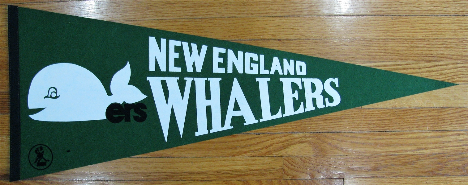 VINTAGE WHA NEW ENGLAND WHALERS PENNANT