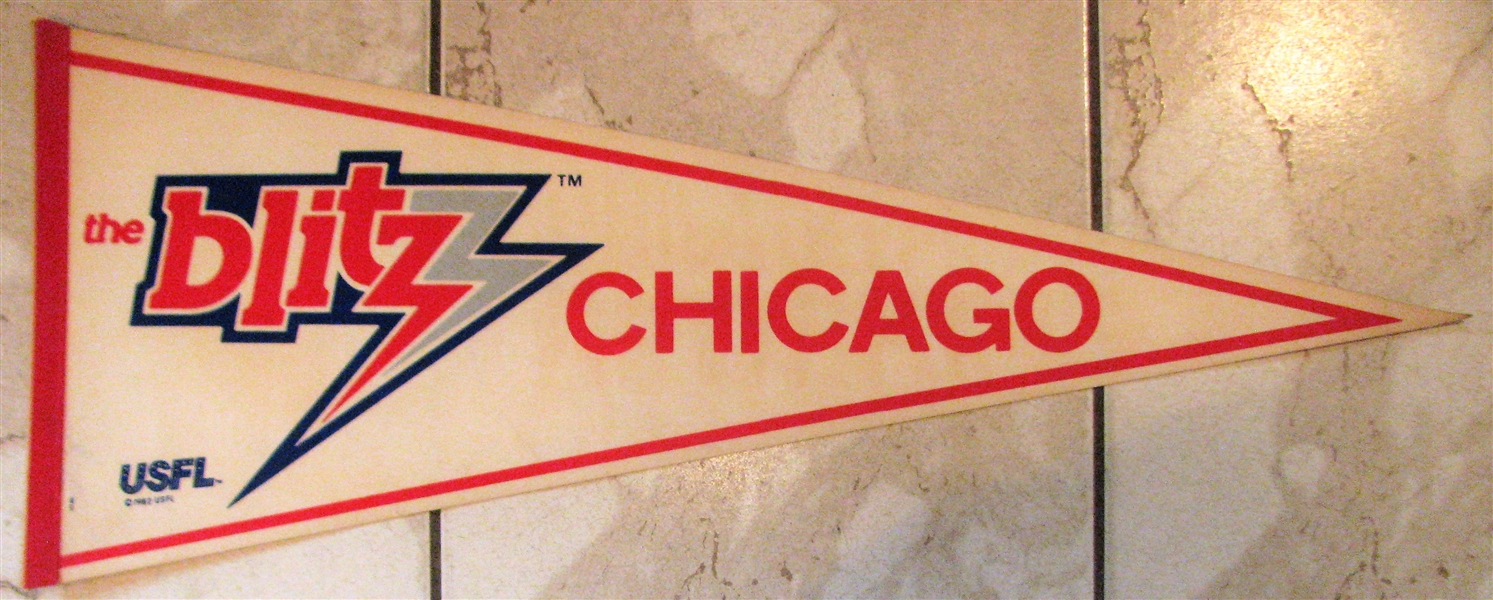 80's USFL CHICAGO BLITZ PENNANT