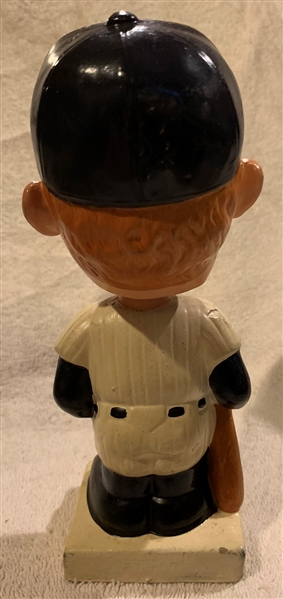 60's MICKEY MANTLE SQUARE BASE BOBBING HEAD w/BOX