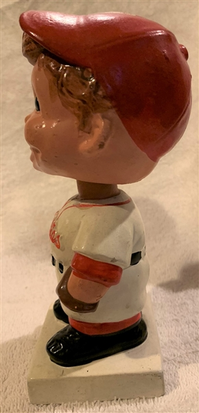 60's PHILADELPHIA PHILLIES WHITE BASE BOBBING HEAD w/BOX