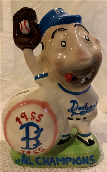 1955 BROOKLYN DODGERS NATIONAL LEAGUE CHAMPION  MASCOT BANK