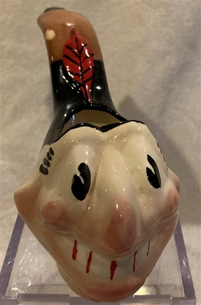 50's CLEVELAND INDIANS MASCOT DECORATIVE PIPE