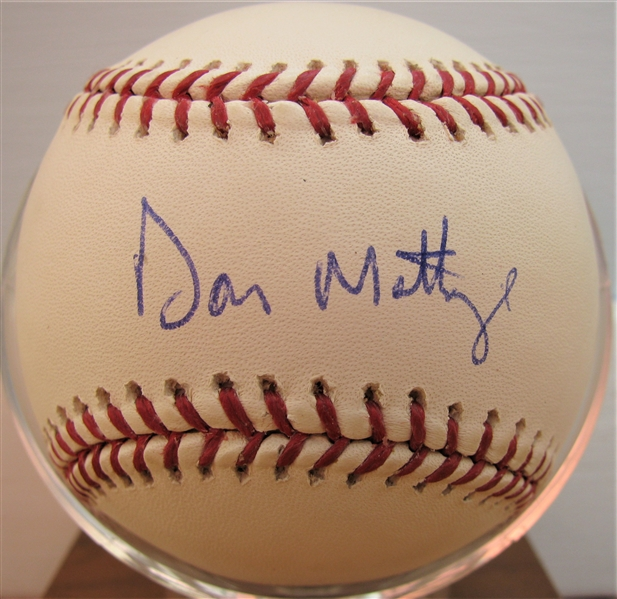 DON MATTINGLY SIGNED BASEBALL w/CAS COA