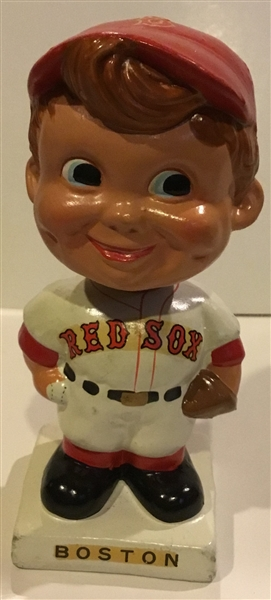 60's BOSTON RED SOX WHITE BASE BOBBING HEAD