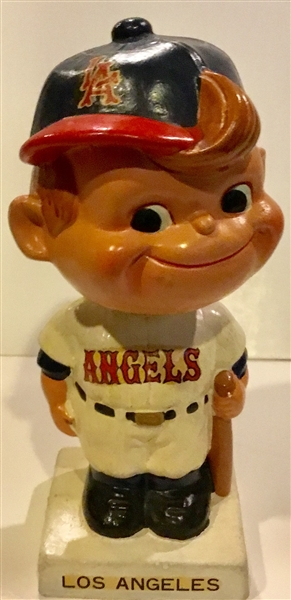 60's LOS ANGELES ANGELS WHITE BASE BOBBING HEAD