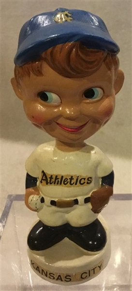60's KANSAS CITY ATHLETICS mini BOBBING HEAD