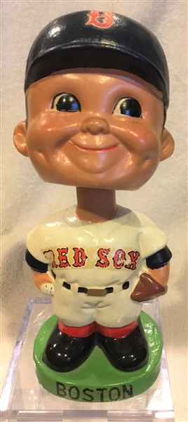 60's BOSTON RED SOX GREEN BASE BOBBING HEAD w/HTF BLUE HAT