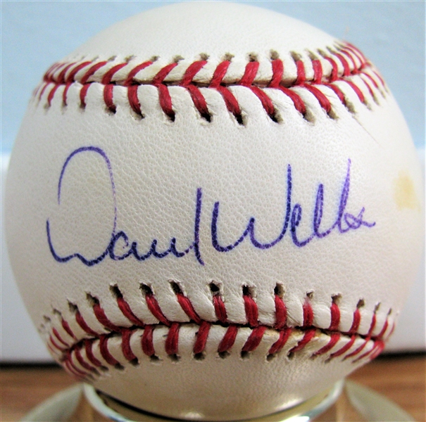 DAVID WELLS SIGNED BASEBALL w/CAS COA