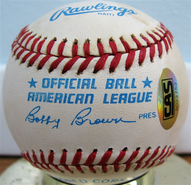 GEORGE KELL SIGNED BASEBALL w/CAS