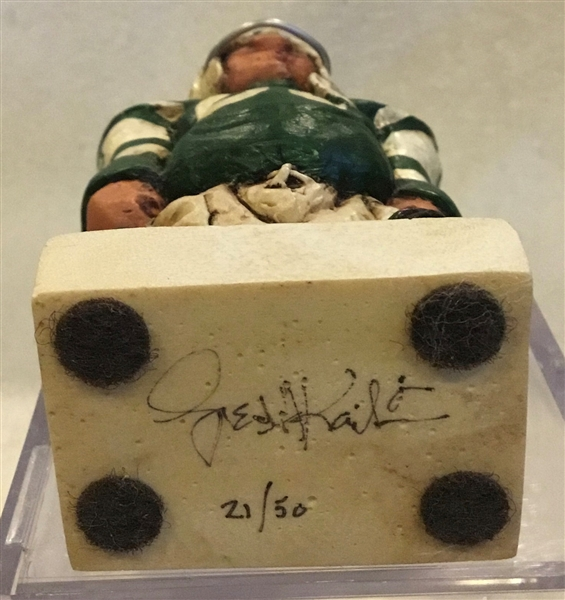 1965 NEW YORK JETS FRED KAIL L.E. STATUE - SIGNED