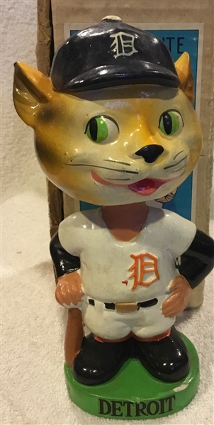 60's DETROIT TIGERS GREEN BASE BOBBING HEAD w/BOX