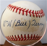 WILLIAM BILL TERRY SIGNED BASEBALL w/CAS COA