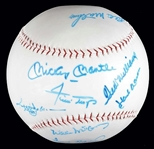 500 HOME RUN CLUB SIGNED GIGANTIC BASEBALL w/ MANTLE & WILLIAMS