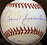 "BOBBY RICHARDSON ""3 TIME WS CHAMP"" SIGNED BASEBALL w/CAS COA"