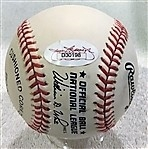 PEE WEE REESE SIGNED BASEBALL - JSA AUTHENTICATED