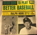 "60s RALPH HOUK ""HOW TO PLAY BETTER BASEBALL"" RECORD ALBUM"