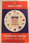 "1971 WORLD SERIES ""NATIONAL LEAGUE"" MEDIA GUIDE- PIRATES CHAMPIONS"