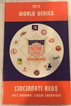 "1972 WORLD SERIES ""NATIONAL LEAGUE"" MEDIA GUIDE- REDS CHAMPIONS"