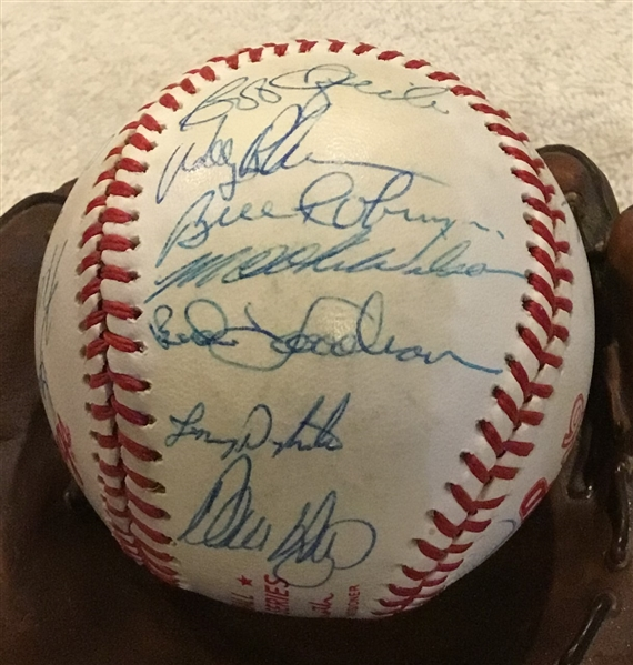 1986 NEW YORK METS WORLD SERIES SIGNED BALL w/PSA LOA