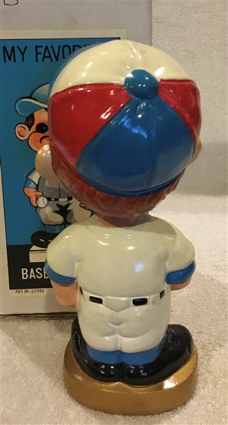 60's MONTREAL EXPOS GOLD BASE BOBBING HEAD w/BOX