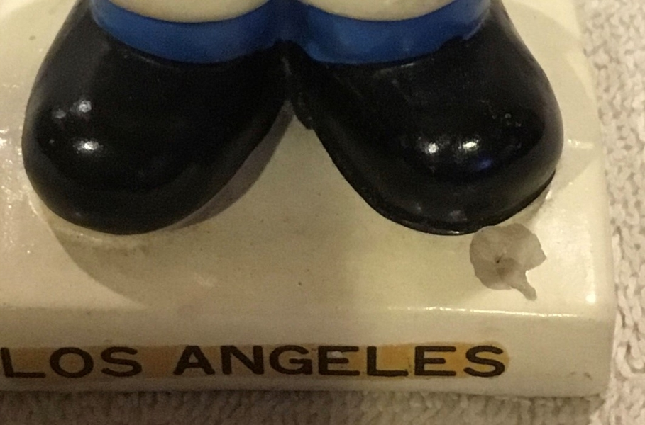 60's LOS ANGELES DODGERS WHITE BASE BOBBING HEAD