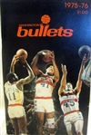 1975-76 WASHINGTON BULLETS MEDIA GUIDE / YEARBOOK