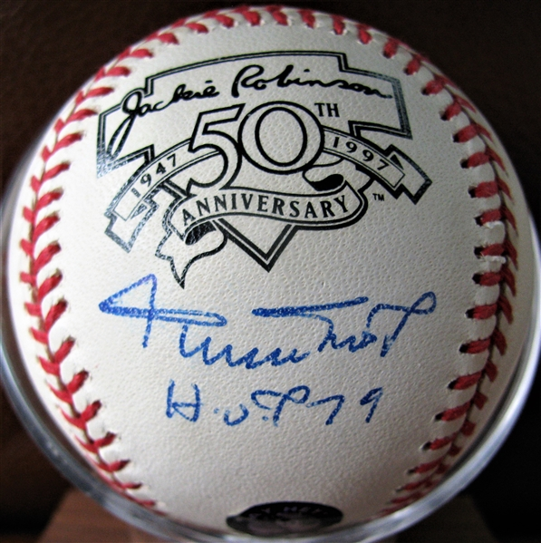 WILLIE MAYS HOF 79 SIGNED JACKIE ROBINSON 50th ANNIVERSARY BASEBALL w/ SAY HEY