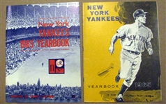 1965 NEW YORK YANKEES YEARBOOKS - 2- OFFICIAL & JAY ISSUE