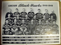 1948-1949 CHICAGO BLACK HAWKS PROMOTIONAL PHOTO
