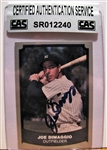 JOE DIMAGGIO SIGNED BASEBALL CARD /CAS AUTHENTICATED