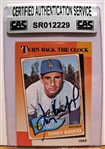 SANDY KOUFAX SIGNED BASEBALL CARD /CAS AUTHENTICATED