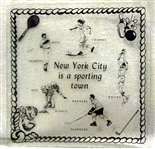 VINTAGE NEW YORK SPORTS TEAM TRAY- YANKEES,METS,GIANTS, JETS & MORE