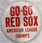1967 GO-GO RED SOX AMERICAN LEAGUE CHAMPS PIN