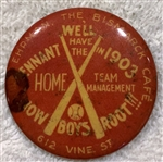 1903 PENNANT ROOTERS PIN - RARE