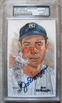 JOE DIMAGGIO SIGNED PEREZ STEELE CARD PSA SLABBED & AUTHENTICATED