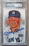 MICKEY MANTLE SIGNED PEREZ STEELE CARD PSA SLABBED & AUTHENTICATED