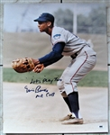 "ERNIE BANKS ""LETS PLAY TWO"" MR. CUB SIGNED 16 X 20 w/SGC"