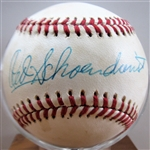 RED SCHOENDIENST SIGNED BASEBALL w /CAS COA